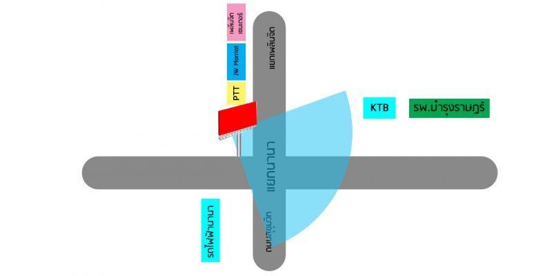 แผนที่ป้ายโฆษณา LED นานา ถนนสุขุมวิท